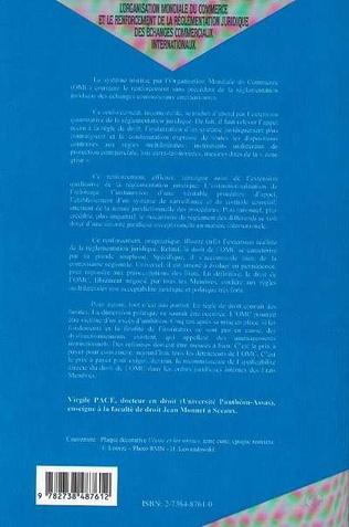 4eme L'ORGANISATION MONDIALE DU COMMERCE ET LE RENFORCEMENT DE LA REGLEMENTATION JURIDIQUE DES ECHANGES COMMERCIAUX INTERNATIONAUX