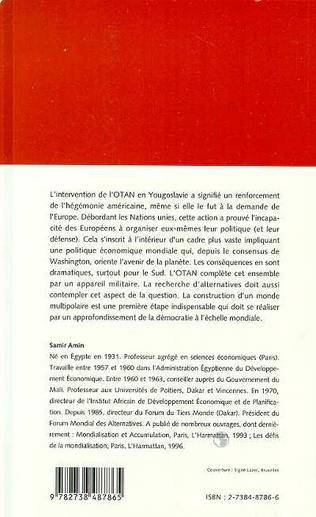 4eme L'HEGEMONISME DES ETATS-UNIS ET L'EFFACEMENT DU PROJET EUROPEEN