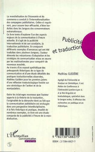 4eme PUBLICITÉ ET TRADUCTION