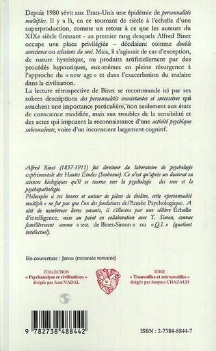 4eme LES ALTERATIONS DE LA PERSONNALITE