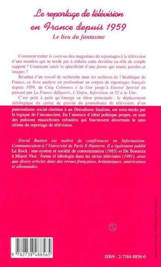 4eme LE REPORTAGE DE TELEVISION EN FRANCE DEPUIS 1959