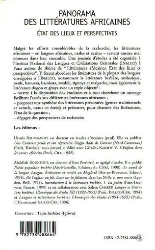4eme PANORAMA DES LITTERATURES AFRICAINES
