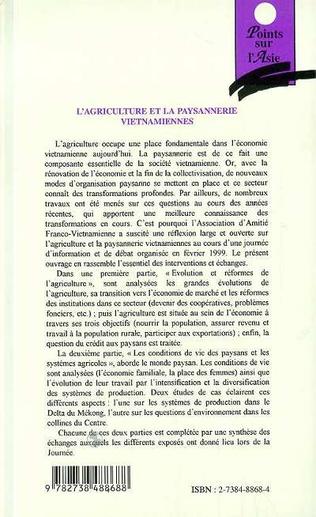 4eme AGRICULTURE ET LA PAYSANNERIE VIETNAMIENNES