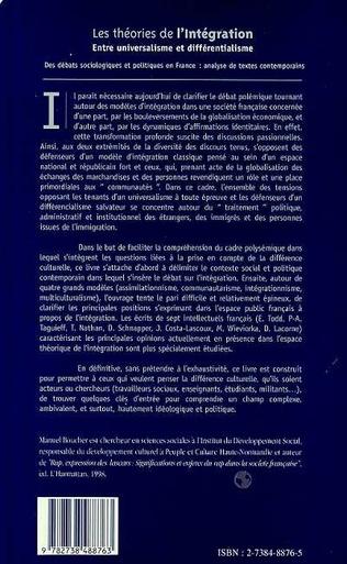 4eme LES THEORIES DE L'INTEGRATION