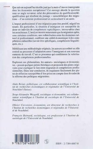 4eme MAIN-D'ŒUVRE ETRANGERE ET DIVERSITE DES COMPETENCES