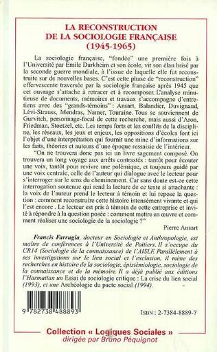 4eme La reconstruction de la sociologie française (1945-1965)