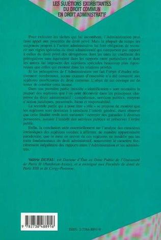 4eme LES SUJETIONS EXORBITANTES DU DROIT COMMUN EN DROIT ADMINISTRATIF