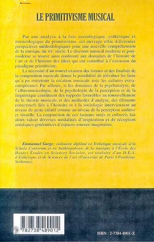 4eme LE PRIMITIVISME MUSICAL