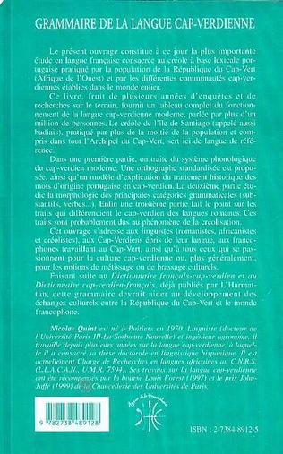 4eme GRAMMAIRE DE LA LANGUE CAP-VERDIENNE