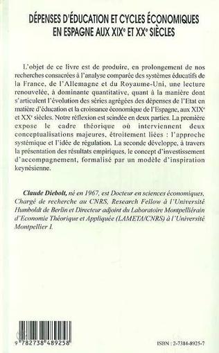 4eme DEPENSES D'EDUCATION ET CYCLES ECONOMIQUES EN ESPAGNE AU XIXE ET XXE SIECLES