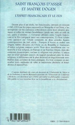 4eme SAINT FRANCOIS D'ASSISE ET MAîTRE DOGEN