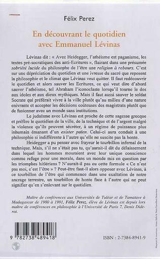 4eme EN DECOUVRANT LE QUOTIDIEN AVEC EMMANUEL LEVINAS