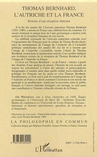 4eme THOMAS BERNHARD, L'AUTRICHE ET LA FRANCE