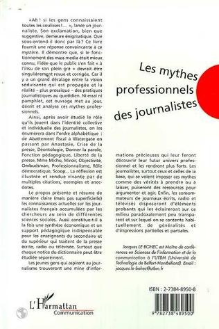 4eme LES MYTHES PROFESSIONNELS DES JOURNALISTES