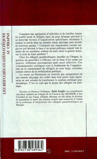 4eme LES REFUGIES GUATEMALTEQUES AU CHIAPAS