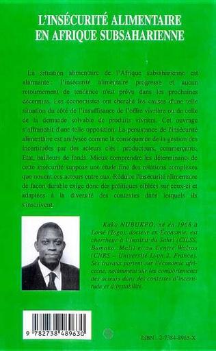 4eme L'INSECURITE ALIMENTAIRE EN AFRIQUE SUBSAHARIENNE