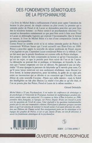 4eme FONDEMENTS (DES) SEMIOTIQUES DE LA PSYCHANALYSE