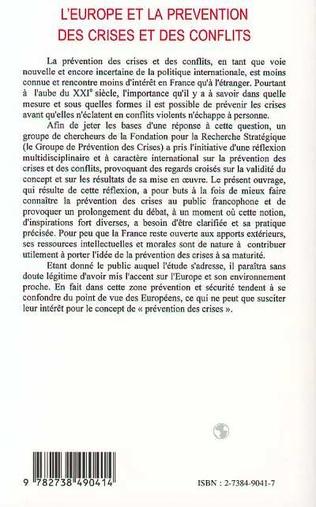 4eme L'alerte précoce et la prévention des conflits violents