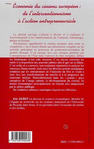 4eme ECONOMIE DU CINEMA EUROPEEN : DE L'INTERVENTIONNISME A L'ACTION ENTREPRENEURIALE