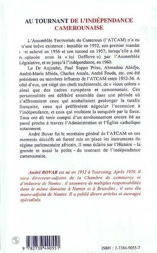 4eme AU TOURNANT DE L'INDEPENDANCE CAMEROUNAISE