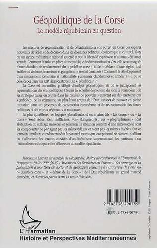 4eme GEOPOLITIQUE DE LA CORSE