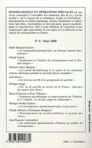 4eme RENSEIGNEMENT ET OPERATIONS SPECIALES N°4