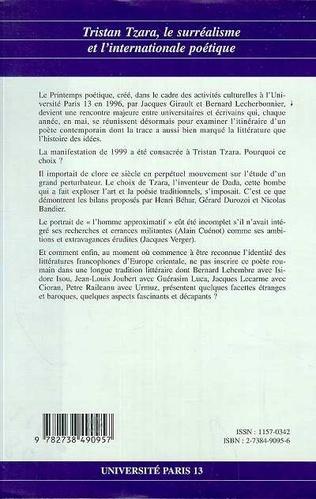 4eme Tristan Tzara, le surréalisme et l'internationale poétique