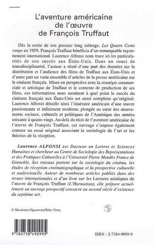 4eme L'AVENTURE AMERICAINE DE L'ŒUVRE DE FRANÇOIS TRUFFAUT