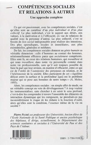 4eme COMPETENCES SOCIALES ET RELATIONS A AUTRUI
