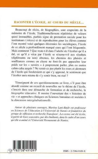 4eme RACONTER L'ECOLE, AU COURS DU SIECLE…
