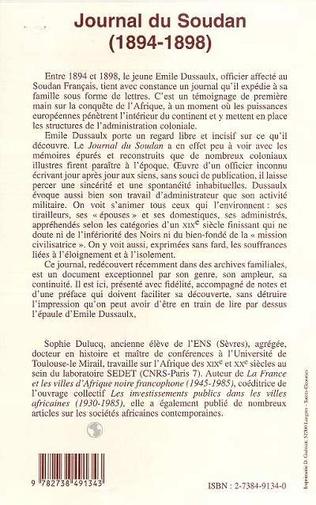 4eme JOURNAL DU SOUDAN (1894-1898)