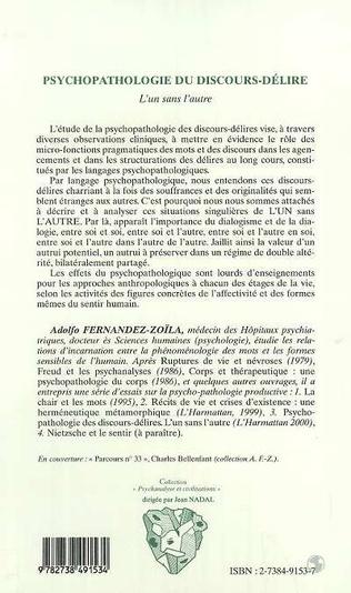 4eme PSYCHOPATHOLOGIE DU DISCOURS-DELIRE