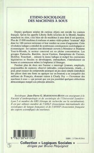 4eme ETHNO-SOCIOLOGIE DES MACHINES A SOUS