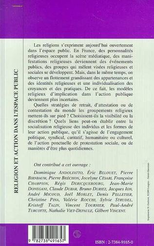 4eme RELIGION ET ACTION DANS L'ESPACE PUBLIC