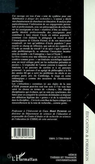 4eme LES ENSEIGNANTS, L'ECOLE ET LA DIVISION SOCIALE
