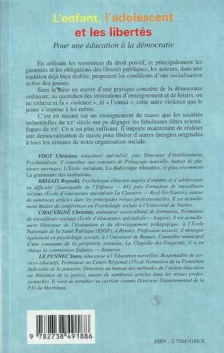 4eme L'ENFANT , L'ADOLESCENT ET LES LIBERTES
