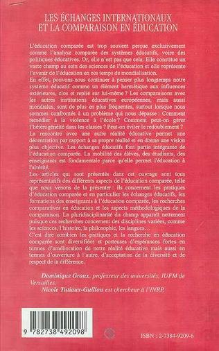 4eme ECHANGES INTERNATIONAUX ET LA COMPARAISON EN EDUCATION