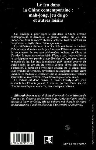 4eme LE JEU DANS LA CHINE CONTEMPORAINE : MAH-JONG, JEU DE GO ET AUTRES LOISIRS