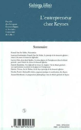 4eme L'ENTREPRENEUR CHEZ KEYNES