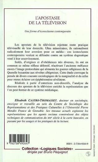 4eme L'APOSTASIE DE LA TELEVISION