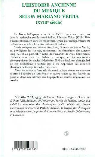 4eme L'HISTOIRE ANCIENNE DU MEXIQUE SELON MARIANO VEITIA (XVIIIE SIECLE)