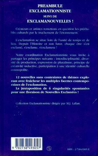 4eme PREAMBULE EXCLAMATIONNISTE SUIVI DE EXCLAMANOUVELLES !