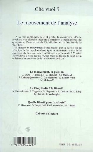 4eme LE MOUVEMENT DE L'ANALYSE