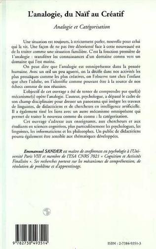 4eme L'ANALOGIE, DU NAÏF AU CREATIF