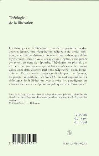 4eme THEOLOGIES DE LA LIBERATION