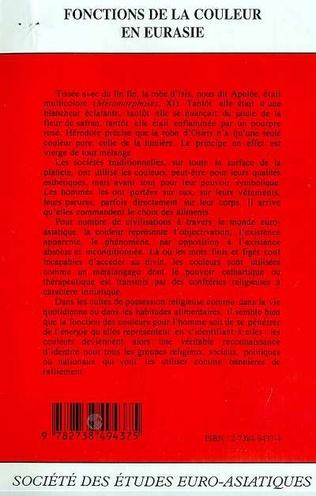 4eme FONCTIONS DE LA COULEUR EN EURASIE