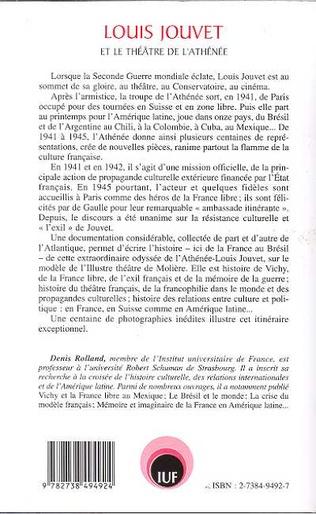 4eme LOUIS JOUVET ET LE THÉÂTRE DE L'ATHÉNÉE