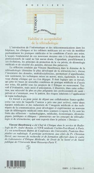 4eme FIABILITÉ ET ACCEPTABILITÉ DE LA TÉLÉRADIOLOGIE