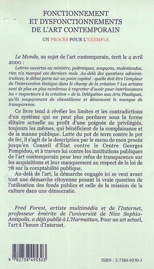 4eme FONCTIONNEMENT ET DISFONCTIONNEMENTS DE L'ART CONTEMPORAIN