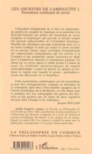 4eme Les archives de l'ambiguïté I.